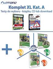 Testy na prawo jazdy w UK. Kat. A - motocykle. KOMPLET XL (3 wersje do wyboru)
