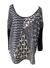 Ladies VELVET by GRAHAM SPENCER Cotton Silk Sheer Top. Size L (US). GUC