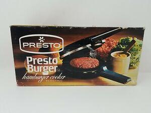 NIB Electric Presto Burger Hamburger Cooker By Presto-vintage