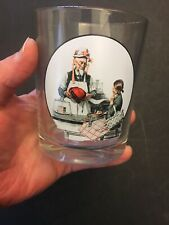 Norman Rockwell Vtg Model 1924 Saturday Evening Post Glassware Drink Clear Glass