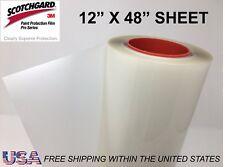 "Paint Protection Film Clear Bra 3M Scotchgard Pro Series 12"" x 48"" Sheet"