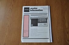 Grundig Prima Boy 700 Portable Radio Genuine Service Manual. Vintage Manual.