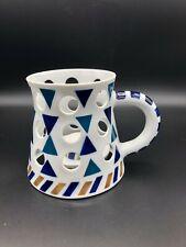 "Rare Vintage Sargadelos Porcelain Aroma Oil Burner w/Shade, 5"" Tall, 7"" Widest"