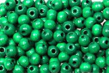 Holzperlen 10mm grün, glänzend, 500 Stück