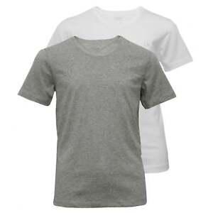 Calvin Klein 2-Pack CK Logo Crew-Neck T-Shirts, Grey Heather/White