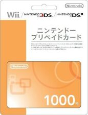 Nintendo Prepaid Card 1000 yen wii 3DS dsi WiiU switch japan japanese