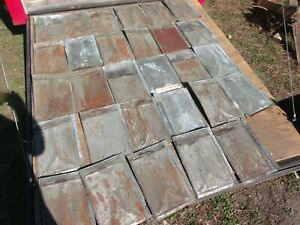 Vintage Tin Ceiling Tiles- 1800;s, Architectural rescue/reclaim{29 tiles,25sq ft