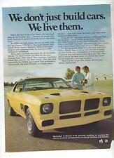 HQ Holden Monaro GTS Modified Original Advertisement removed from a Magazine