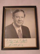 "VTG GEORGIA SENATOR RUSSELL LONG PHOTOGRAPH/SIGNED -8 1/2"" X 11"" FRAMED"