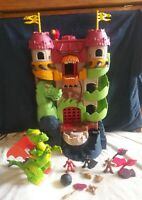 Imaginext Dragon World Fortress Castle w/Deluxe Dragon and more Playset-NICE