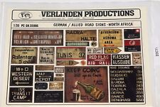 1:35 Verlinden Productions PC DA 35006 German / Allied Road Signs North Africa