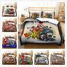 3D Cartoon Graffiti Duvet Cover Bedding Comforter Cover Pillow Case Kids