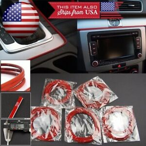 5 x 9' Red Molding Stripe Trim Line For Mazda Subaru Console Dashboard Grill