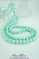 84pcs Pearl Beads-10mm Sky Blue Color Imitation Acrylic Round Loose Spacer Pearl