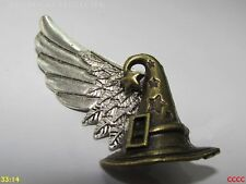 steampunk brooch badge pin left wing sorting hat Harry Potter Hogwarts wizard