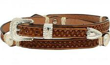 M&F Western Mens Hatband Leather Rawhide Stamped 0278648