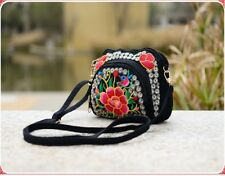 2X MINI Flower Embroidered Folk-Custom Single Shoulder Bag Hippie Bag