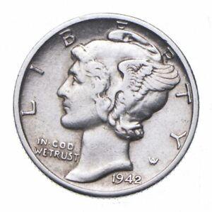 CHOICE - 1942-D Mercury Dime - Mint Marked - TOUGH Coin! *830