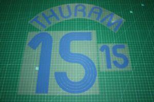 Flocage THURAM pour maillot équipe de France blanc patch shirt