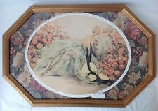 1920s Vintage Louis Icart Black Stockings Framed Poster or Print in Gold Frame