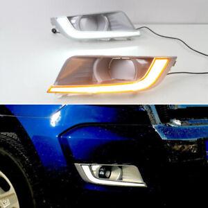LED DRL Turn Indicator Signal Daytime Running Fog lights Fit For Ford Ranger 15+