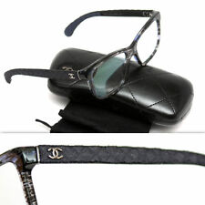 "$495 CHANEL Ladies ""CC"" LOGO QUILTED DENIM GLASSES"