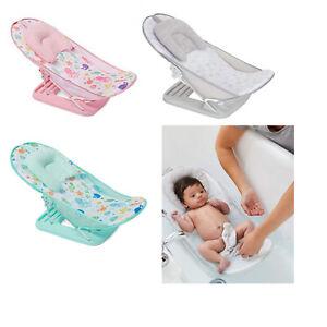 Foldable & Adjustable Home & Travel Baby bath bather Seat 3 Colours UK SELLER