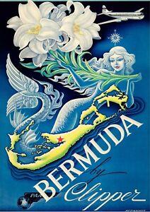 Bermuda Travel Poster, Art Print, Wall Art, Unframed