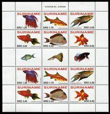 SURINAM 2006 Fische Fishes Poissons Pesci 2065-2070 Kleinbogen ** MNH