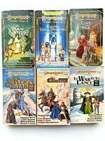 Dragonlance Tales Trilogy I & II VTG TSR Complete Books 1-6 Magic Of Krynn D&D