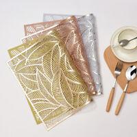 Rectangle PVC Hollow Coaster Plastic Pads Insulation Table Placemat Non-slip Mat