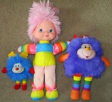 Vtg 1980s Rainbow Brite Lot 2 Sprites Champ Posie Baby Doll Mattel