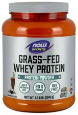 NOW SPORTS Grass-Fed Whey Protein Concentrate-Creamy Chocolate Powder 1.2 Lbs