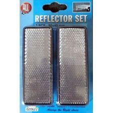 Lot De 2 Réflecteur Reflechissant Remorque Rectangulaire Blanc