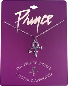 Prince Official Estate Love Symbol Purple Rain Logo Necklace Brand New SILVER