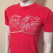 New listing Rare Vtg 80's Tinsel Graphic Enjoy Coca Cola Coke T-Shirt • Men's Modern Small