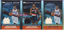 (3) TOPPS JERSEY EDITION ROOKIE CARD: QYNTEL WOODS #/99 BLAZERS RC SWATCH LOT