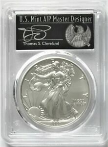 2020(S) SILVER EAGLE SF EMERGENCY ISSUE FDOI PCGS MS70 CLEVELAND SIGNED FREEDOM