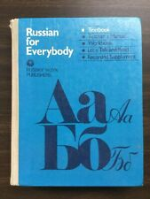 Russian for Everybody Textbook, 1987 HC, Russky Publishers YAZYK