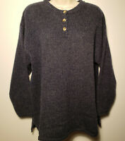 Eddie Bauer 100% Wool Women's Small Sweater Blue Sz S