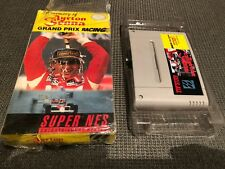 pal Super Nintendo snes game Ayrton Senna racing