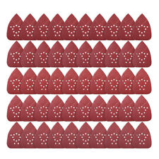 50PCS Mouse Sanding Pads 12 Holes Detail Sander Sandpaper 60 80 120 150 220 Grit