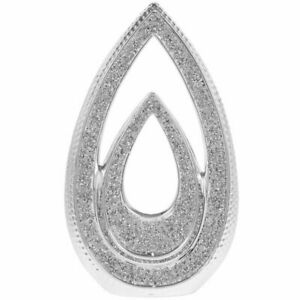 Silver Double Teardrop With Crushed Diamante Bling Decorative Sculpture