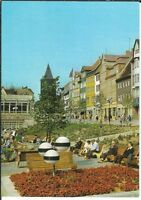 Ansichtskarte Jena - Platz der Kosmonauten mit Passanten - farbig