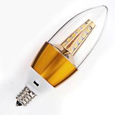 Lot of 6 - 110V AC 5W Warm White LED E12 Base Candelabra Candle Light Bulbs