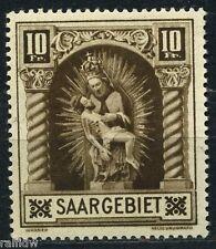Saargebiet 10 Fr. Madonna 1925** Plattenfehler geprüft (S6534)