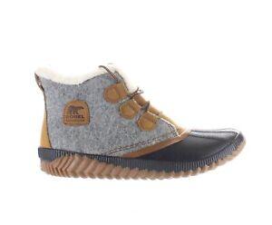 SOREL Womens Out N About Felt Grey Quarry Rainboots Size 12 (2101729)