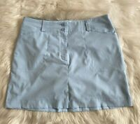 Nike Golf Skort Women's Size 14 Dri-Fit Skirt Shorts Pale Blue Pockets Zip EUC