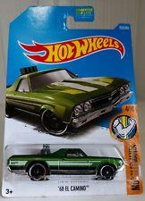 68 El Camino #333 Green 2017 Hot Wheels Die-cast toy car