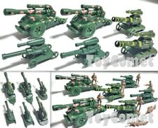 6 pcs Military Cannon Models Plastic Toy Soldier Army Men Accessories